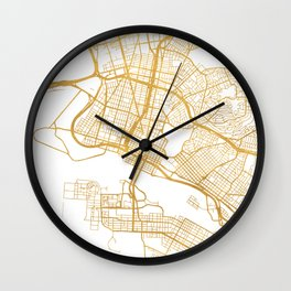 OAKLAND CALIFORNIA CITY STREET MAP ART Wall Clock