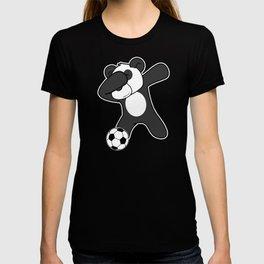 Soccer Dabbing Panda Love Funny Dab Panda Lover  T-shirt