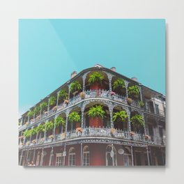 Hanging Baskets of Royal Street, New Orleans Metal Print
