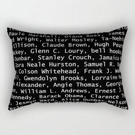African American Literary Rebels Rectangular Pillow