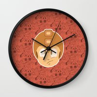 megaman Wall Clocks featuring Megaman by Kuki