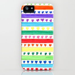 LOVE STRIPES iPhone Case