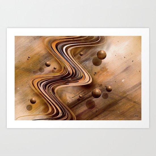 Chocolate Waves Art Print