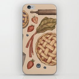 Pie Baking Collection iPhone Skin