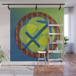 SAGITTARIUS Flower of Life Astrology Design Wall Mural