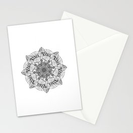 Modern Snowflake  Stationery Cards