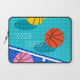 All Day - basketball sports memphis retro throwback neon trendy colors athletic art design Laptop Sleeve