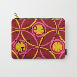 Warm Floral Feline Carry-All Pouch