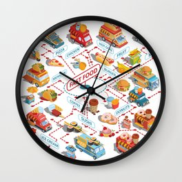 fast food Wall Clock