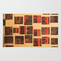 coffe Area & Throw Rugs featuring Coffe - Vintage Drink by Fernando Vieira