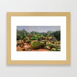 Cactus Garden Concept Art Framed Art Print