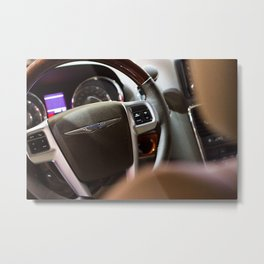 Chrysler Town & Country Limited Steering Wheel and Panel Metal Print