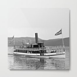 Vintage Mohican Steamboat Metal Print