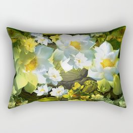 """White flowers forest"" Rectangular Pillow"