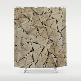 broken glass texture Shower Curtain