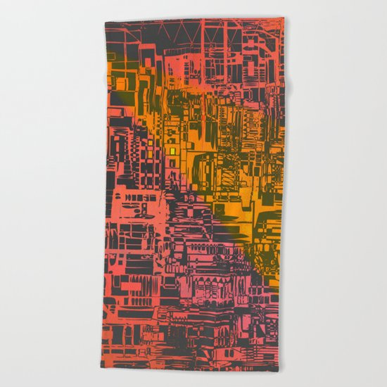 Where Are YOU / Density Series Beach Towel