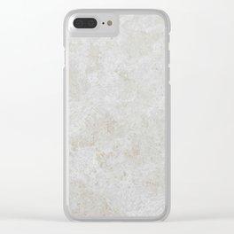 Travertine Clear iPhone Case