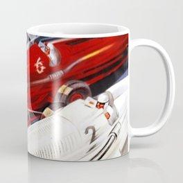 1934 12th Italian Grand Prix Grand Premio d'Italia Monza Plinio Codognato Vintage Poster Coffee Mug