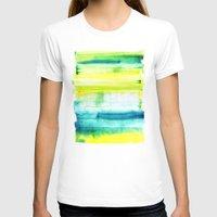 swimming T-shirts featuring Swimming Upstream by Picomodi