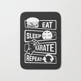 Eat Sleep Karate Repeat - Martial Arts Defence Bath Mat