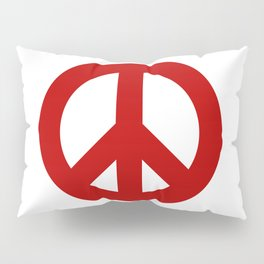 Red Peace Sign, Power of Peace, Power of Love, Social Justice Warrior, Super Sharp PNG Pillow Sham