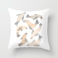 My Lips Are Seals Throw Pillow