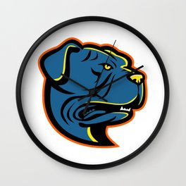 Leavitt Bulldog Head Mascot Wall Clock