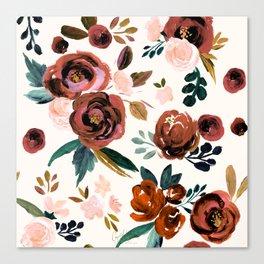 Valentina Vintage Rust Rose Canvas Print