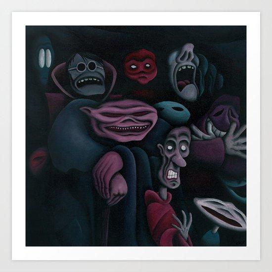 The mob Art Print