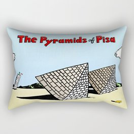 The Pyramids of Pisa Rectangular Pillow