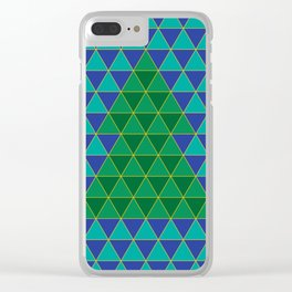 Christmas tree triangles Clear iPhone Case