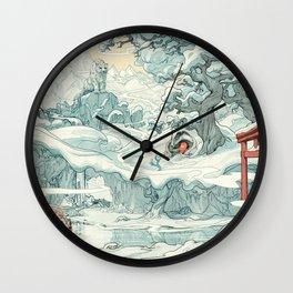 SlumberBean Snow Creatures Wall Clock