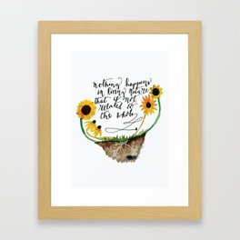 Bee connected Framed Art Print