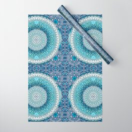Teal Tapestry Mandala Wrapping Paper