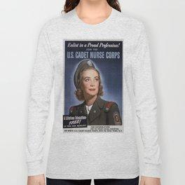 Vintage poster - U.S. Cadet Nurse Corps Long Sleeve T-shirt