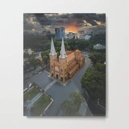 Notre-Dame Cathedral Basilica of Saigon Metal Print