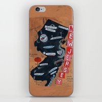 new jersey iPhone & iPod Skins featuring NEW JERSEY by Christiane Engel