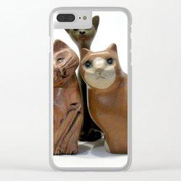 Feeling Feline Clear iPhone Case