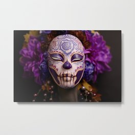 Violet Harvest Muertita Detail Metal Print