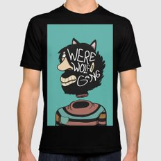 We're a Wolf Gang Mens Fitted Tee Black MEDIUM