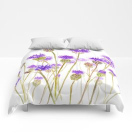 purple thorny wildflower Comforters