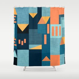 Yellow Klee houses Shower Curtain