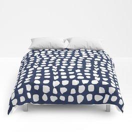 Dots / Navy Comforters