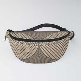 Minimal Tropical Leaves Pastel Beige Fanny Pack