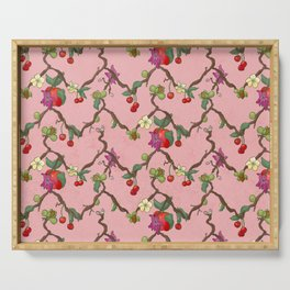 Cherries and Vine Serving Tray