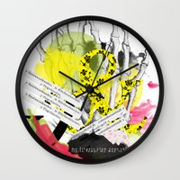 howl Wall Clocks featuring Howl  by Stephanie Trevania