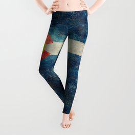 Colorado flag with Grungy Textures Leggings