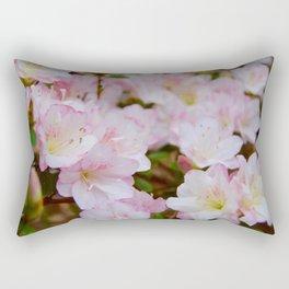 Blooming Azalea Flowers Rectangular Pillow
