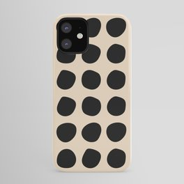 Irregular Polka Dots black and cream iPhone Case