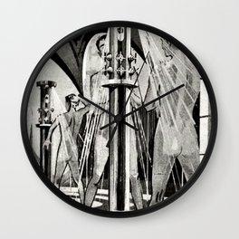 Vintage Bathhouse Wall Clock
